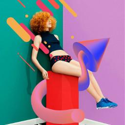 popart heypicsart girl background be-creative freetoedit be