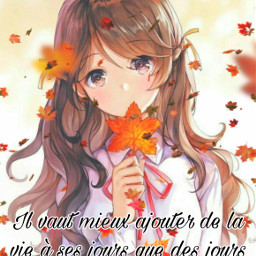 citation quote sentence true anime animegirl girl animecute cute animekawaii kawaii beautiful beautifulgirl leaf maple mapleleaf autumn autumnleaves pretty prettygirl lavieestbelleaussibellequetoi freetoedit