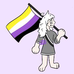 originalart digitalart pride pridemonth pride2021 ych nonbinary