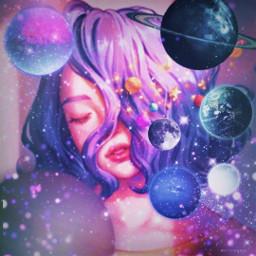 girl challenge galaxy edit art artwork photography freetoedit srcplanetspower planetspower