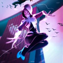 spiderman gwenstacey milesmorales spidergirl art people madewithpicsart marvelcomics marvel creativeartwork