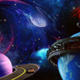 freetoedit myedit myownedit picsart sara_asri planet planets space saturn saturnplanet moon star stars road roads machine