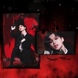 taemin shinee kpop blackandred dark edit