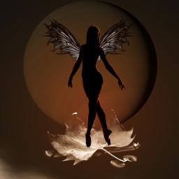 planet ircdancersilhouette dancersilhouette girlsilhouette wing wings shadow circle tehp black freetoedit