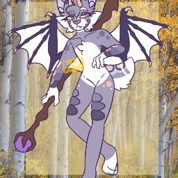 originalart digitalart notmyoc dragon wolf dragonwolf