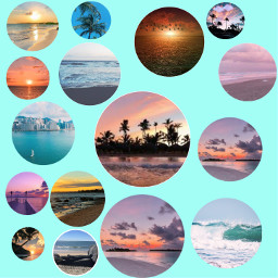 freetoedit tło widok widoki plaża plaże beach zachód słońce palmy ładne