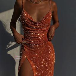 sparkle sparkles sparkling sparkly shine shinee glitter glitteredit sparkledress dress girly girl girls aesthetic aestheticedit aesthetics tumblr tumblrgirl makeawesome papicks heypicsart picsart orange bling aestheticorange