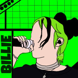 billieeilish green badguy lonely genz drawing outline aesthetic onedirection justinbieber