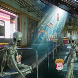desafio challenge tremvazio et aliens ovni ceu sky fastfood cocacola coke kfc doritos starbucks nutella fastfoodlovers funny divertido fantasia freetoedit ircemptytrain emptytrain