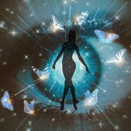 beautiful eye surreal fantasy sillouette butterflies ircdancersilhouette dancersilhouette remixed