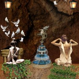 freetoedit darknessandlight swans doves pond