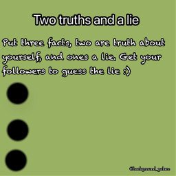 freetoedit checkboard twotruthsandalie truthlie lies truth two green background_palace rules
