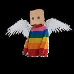 freetoedit weirdcore aesthetic oc origanalcharacter cute creepy weird angel paperbag swaggykokichiforfuckingpresident2021