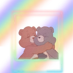 freetoedit friends pride rainbow bears