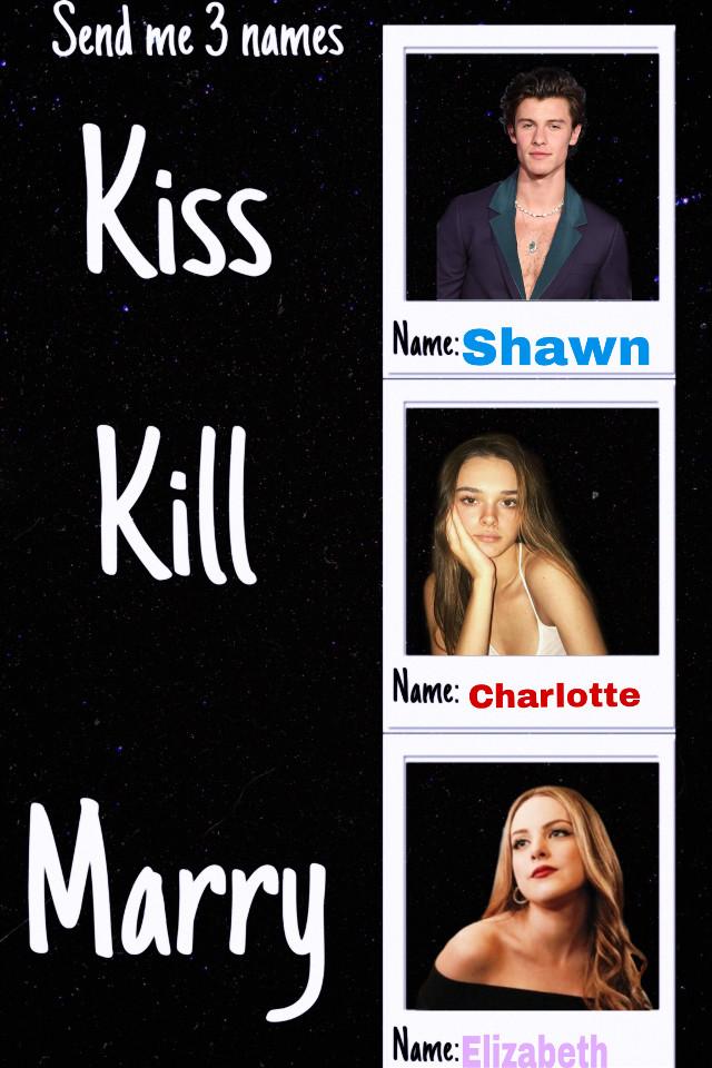 I love Charlotte but I had to someone😂😅 #kisskillmarry