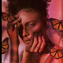 freetoedit heypicsart makeawesome picsart model girl beauty background butterflies film effect love share save remixit