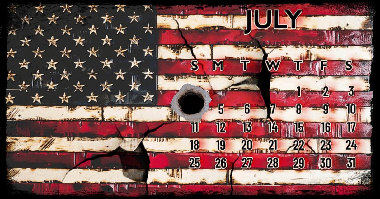 Born in Blood #calender #july #fourthofjuly #independanceday  #starsandstripes #usa #america #bullethole #torn #damaged #distressed #vintage