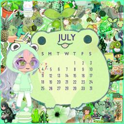 freetoedit frog srcjulycalendar2021 julycalendar2021
