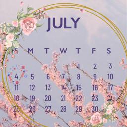 freetoedit flowerpower srcjulycalendar2021 julycalendar2021