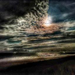 photography nature sky clouds beach moon night freetoedit skyandclouds