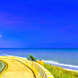 beach skylovers skyandclouds blue ocean summer summervibes venezuela outside heaven freetoedit pcskyandclouds