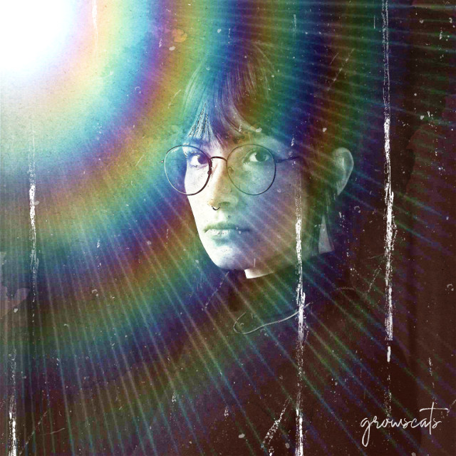 Just because you are in the dark doesn't mean you can't have rainbows #freetoedit#woman#dark#rainbow#rainbowlight#myedit