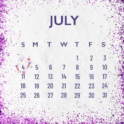 freetoedit july purple calendar