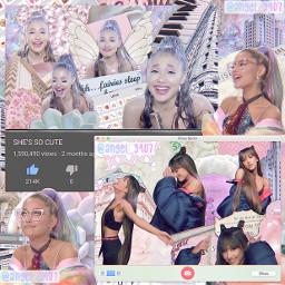 arianagrande complexshapeedit conplexshape pink purple blue pretty aesthetic pastel cute freetoedit remixit