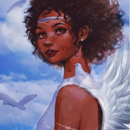 freetoedit myoldedit sara_asri myedit myownedit picsart bird brids angel angelwings wings bracelet necklace angels girls girl angelgirl moon sky clouds cloud birdwings whitebird whitebirds