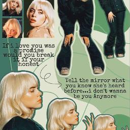freetoedit nda billie eilish billieeilishedits green greenaesthetic happierthanever blonde aesthetic