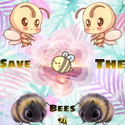 freetoedit savethebees bees