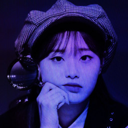 freetoedit cybercore aesthetic deep blue sad chuu loona kpop kpopgirls effect goth aesthetics replyedit replay girlgroup edgy cyberpunk y2k