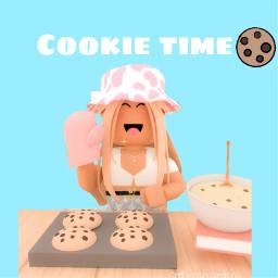 freetoedit cookie roblox robloxgirl
