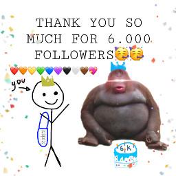 6k 6000followers followers celebration 6000 yay happy harambe lemonke party freetoedit