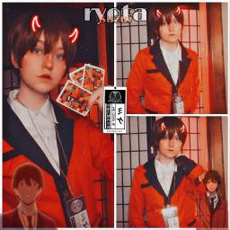freetoedit ryota ryotacosplay suzuiryota kakegurui kakeguruicosplay cosplay gambling gamblingschool idk weeblet101 yeet red