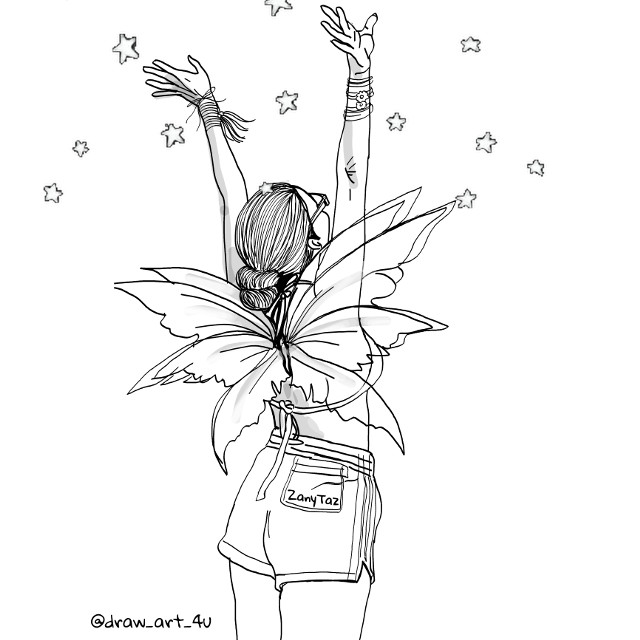 #reachingout #reachingforthestars #stars #wings #trendygirl #colorme #be_creative #drawing @ocean689 #outlines #outlineart #outlinegirl #sketch #illustration #hope #fairygirl #illustrationoftheday #art #lineart #freetoedit #zanytaz #draw_art_4u