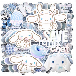 freetoedit cinnamoroll sanrio complexedit kawaii blue saveremixchat bunny butterfly border