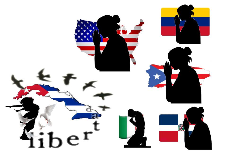 #soscuba #puertorico #venezuela #republicadominicana #unitedstates y #italy estamos de rodillas por que se kes brinde la libertad que necesitan mantengansen fuertes en el señor que el tiene el control