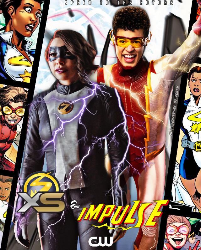 XS & Impulse, the West-Allen siblings! ⚡️⚡️⚡️ #theflash #theflashseason7 #theflashcw #norawestallen #xs #bartallen #impulse #arrowverse #dccomics #thechainsmokers