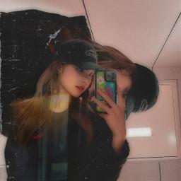 yeji itzy y2k aesthetic aestheticedit kpop korea kpopedit mirror selfie y2kaesthetic freetoedit