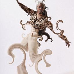 picsart madewithpicsart surreal girl dance distort