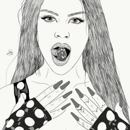 drawing outline sketch digitalart art outlineart digitaldrawing drawingart love creativity creative portrait girl luísa sonza luísasonza freetoedit