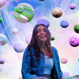 freetoedit heypicsart makeawesome picsart background circles circlebackground pinkbackground mask rainbow girl model love share save remixit