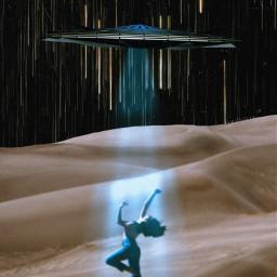 freetoedit unsplash ufo desert star stars startrails night nightsky plrd3 space galaxy surreal surrealart surrealistic collage
