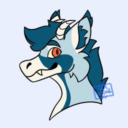 originalart digitalart notmyoc dragon wolf dragonwolf hybrid artfight artfight2021 teamsteam