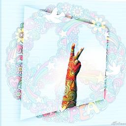 freetoedit hand peace ircpeacesign peacesign