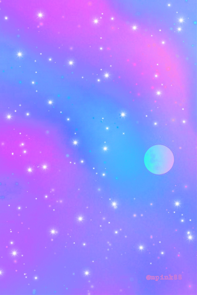 #freetoedit @mpink88 #glitter #sparkle #galaxy #sky #clouds #moon #pink #purple #blue #colorful #space #neon #night #aesthetic #cute #kawaii #landscape #overlay #background #wallpaper
