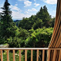 balcony nature landscape green freetoedit