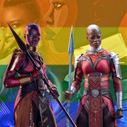 freetoedit ayo okoye wakanda blackpanther lgbtqflag wlw marvel avengers mcu