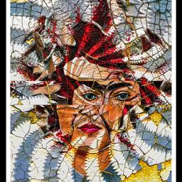 abstractart glitch glitchart fridakahlo headburst creativityandexpression